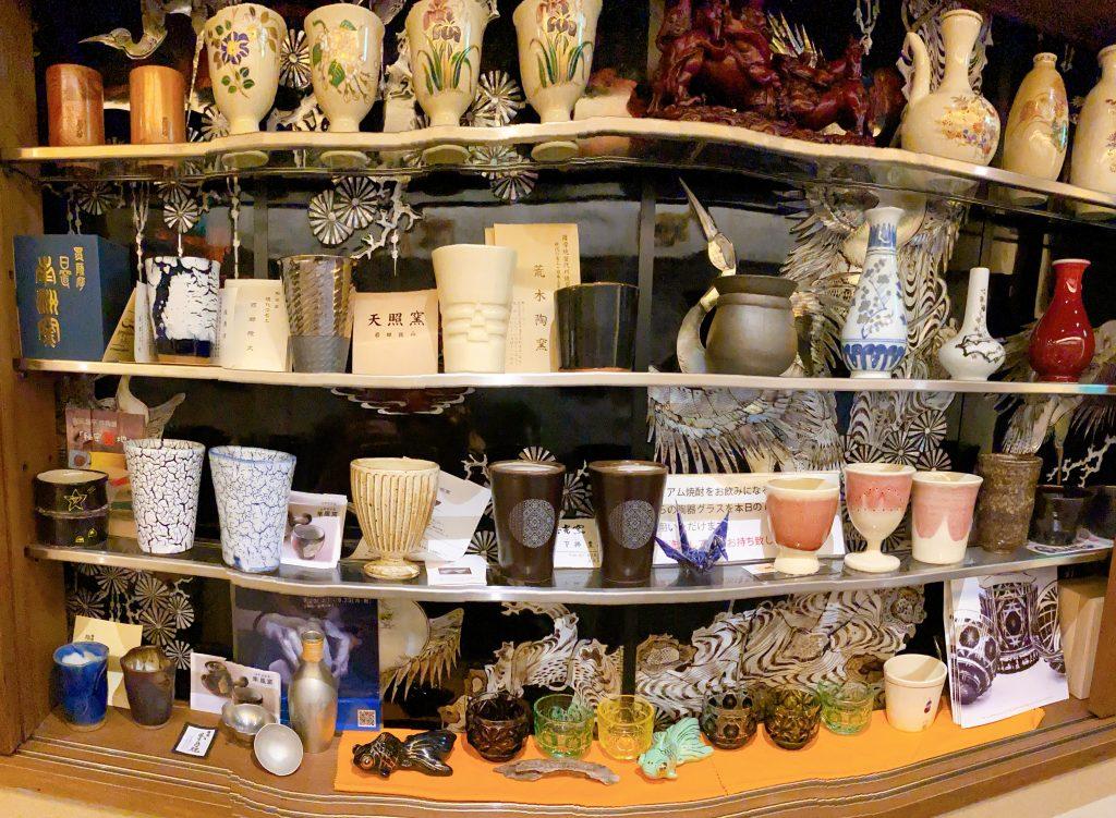 鹿児島市 居酒屋 鹿児島中央駅すぐ  八幡 鹿児島の伝統芸術 薩摩の陶器